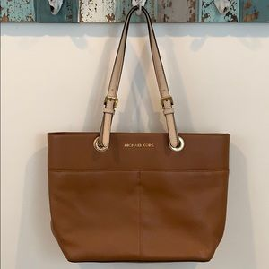 Michael Kors Brown Leather Shoulder Bag